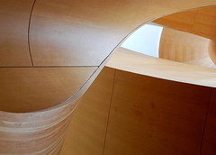 Curves. (gardinergirl) Tags: wood sunlight toronto architecture smooth staircase ago curve curved frankgehry douglasfir artgalleryofontario 18200mm explored