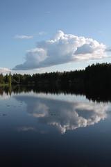 (eeviko) Tags: blue summer sky cloud white water clouds forest suomi finland river woods pohjoiskarjala nurmes northkarelia easternfinland itsuomi kuokkastenkoski