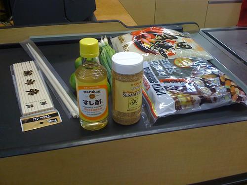 purchasing sushi supplies at mt supermarket in austin texas