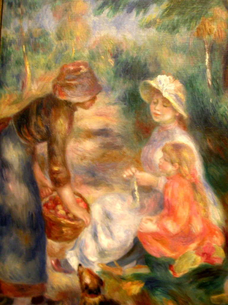 Renoir 1890 'The Apple Seller', Museum of Art, Cleveland Ohio