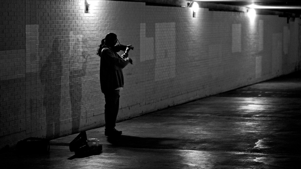 Violinist In A Tunnel - 8/23/09