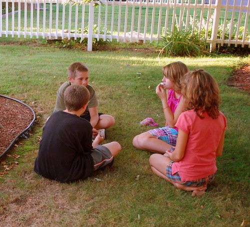 Last Days of Summer - Serious discussions in the grass