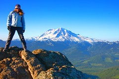 The real thing (lovemyblackcat) Tags: usa nature landscape volcano washington scenery view rainier snowcappedmountain