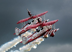 Guinot Wingwalkers (Mike Ashton) Tags: flying nikon aircraft flight northamptonshire aeroplane silverstone wac 200400mmvr worlsaerobaticchampionship