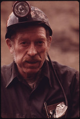 One of a Series of Portraits of Miners Waiting to Go Work on the 4 P.M. to Midnight Shift at the Virginia-Pocahontas Coal Company Mine #4 near Richlands, Virginia 04/1974