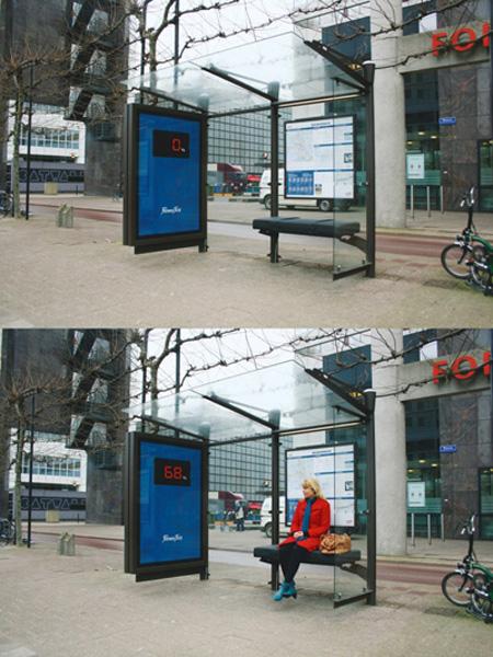 bust stop interactive billboard