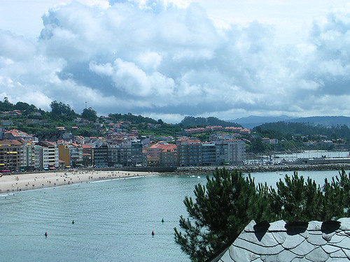 Vista de Sangenjo desde el Hotel Talaso Sanxenxo, Pontevedra