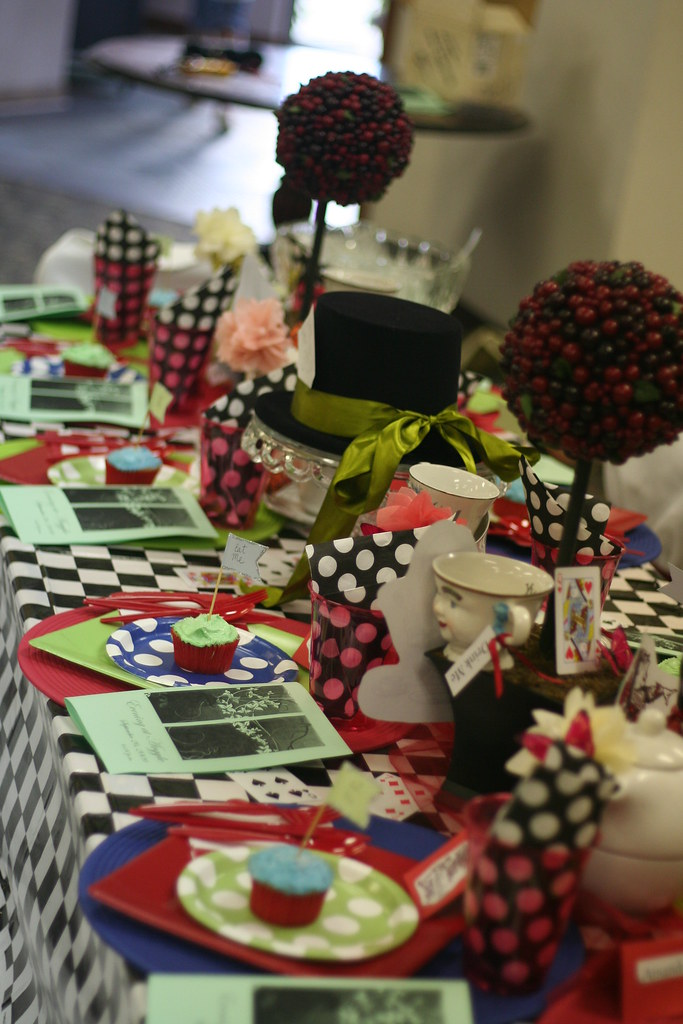 Mad Hatter Tablescape