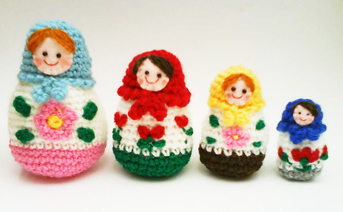 Ravelry Russian Matryoshka Amigurumi Babushka Dolls Pattern By