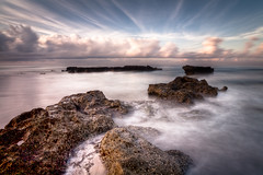 Canggu Beach (Mace2000) Tags: ocean longexposure morning bali water clouds rocks asia asien honeymoon urlaub 5d flitterwochen canggu mace2000 canggubeach 20090829mg7806