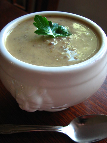 Cream of Mushroom Scallion Soup