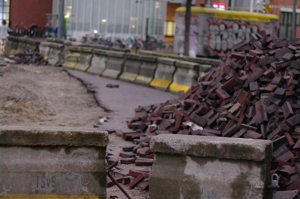 Amsterdam pile of bricks
