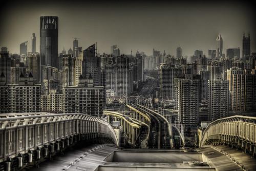 フリー画像| 人工風景| 建造物/建築物| 街の風景| ビルディング| HDR画像| 中国風景| 上海|    フリー素材|