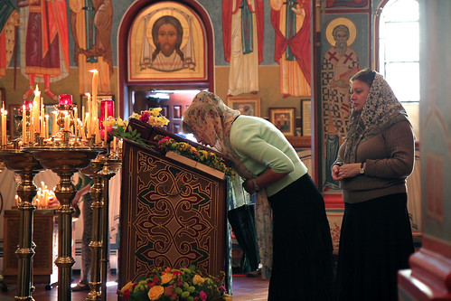 Russian Orthodox Cathedral Worshippers