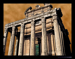 Antoninus and Faustina temple (JanvanSchijndel) Tags: city rome art temple ancient thebestofday gnneniyisi thesuperbmasterpiece
