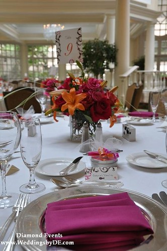Pink Table setting at the Fairmont