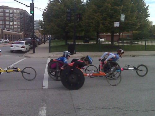 Wheelchair dudes in the Marathon