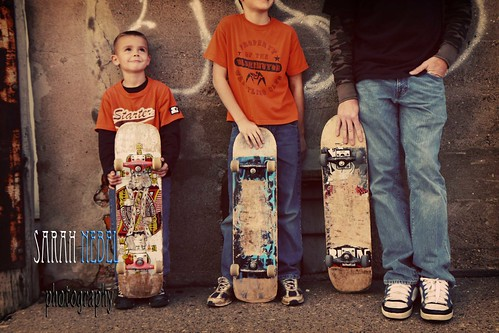 . dad and his boys .
