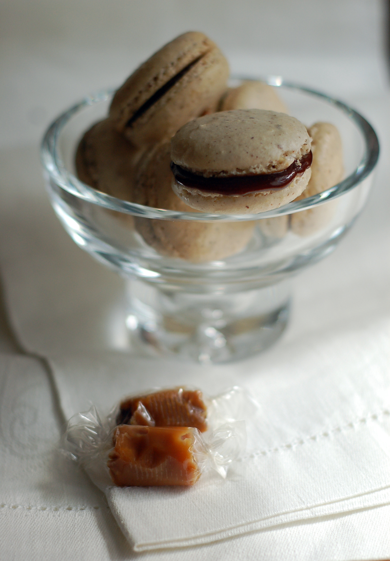 Hazelnut Macarons with Toffee