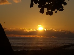 domincal sunset2 (J Cianfrani Photography) Tags: ocean sunset clouds costarica waves branches trunk framing dominical flickrtravelaward
