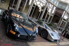 8C + Zonda S (Julien Rubicondo Photography - julienrubicondo.com) Tags: show california blue autumn winter red summer black france fall ford car yellow vw race racecar volkswagen focus track ultimate cannes room garage s super ps ferrari montecarlo monaco mc f r wrc enzo alfa romeo carlo monte castrol abu dhabi limited edition rs luxury supercar luxe maserati cinque zonda dealer supercars fifty granturismo f40 f50 pagani croisette quattroporte scirocco 8c fxx romo cavallari