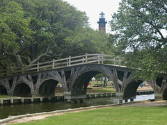 Whalehead Club Bridge (Ian's Tata) Tags: bridge lighthouse outerbanks currituck whaleheadclub curritucknc