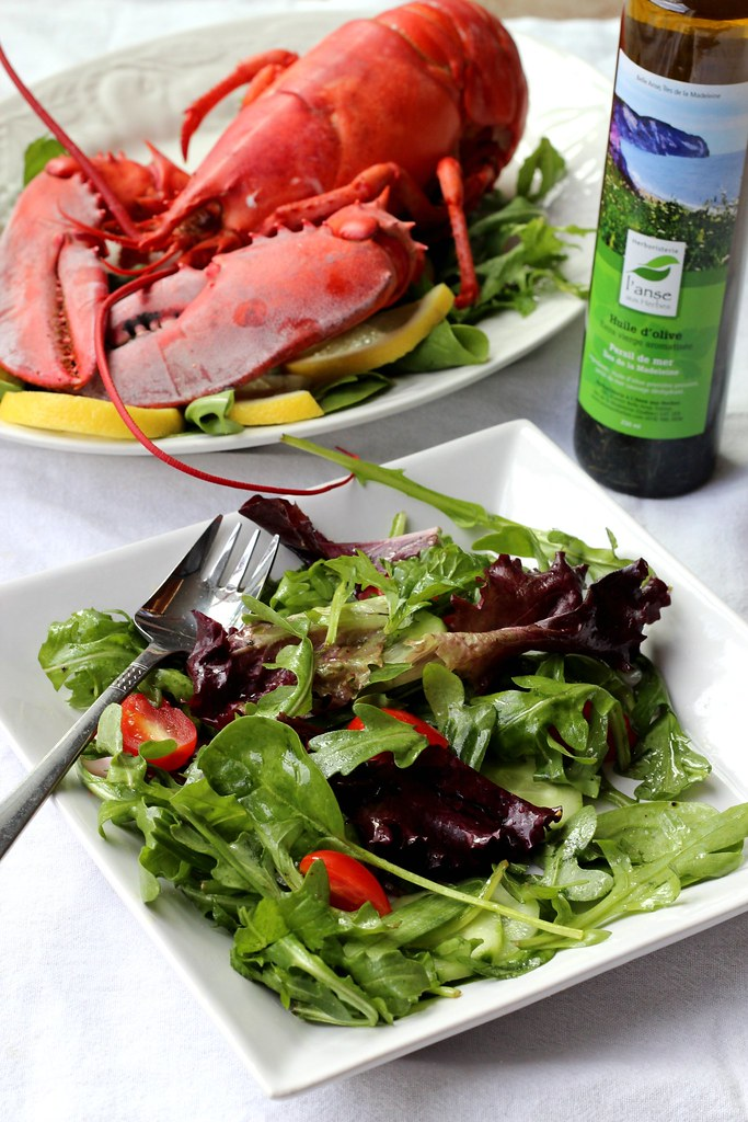 lobster, salad