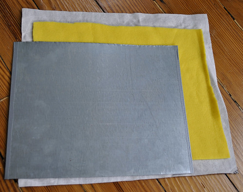 Step 4 - Cut out Fleece and Fabric