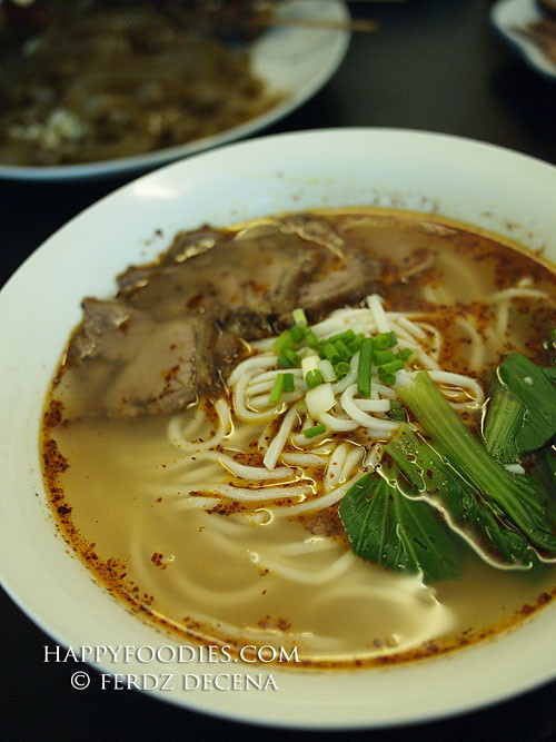 Beef Noodle in Chili Oil