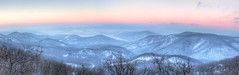 Winter panorama (Majorimi) Tags: canon eos 70d digital color colorful nice hungary winter cold snow white nature pilis hills valley montains tree forest ice view panorama danube river hdr sky sunset blue red orange