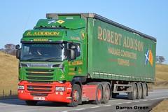 R. ADDISON SCANIA HIGHLINE R580 V8 SV66 JOJ (denzil31) Tags: r addison scania highline r580 v8 sv66 joj torphins aberdeenshire scaniatrucks streamline dennison trailers haulage contractors