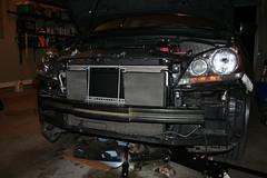 Transmission Cooler Installation (alex.lettie) Tags: 2005 honda cooler odyssey transmission aftermarket oilspilledinthegarage