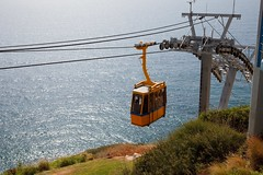 The cable car descent at Rosh Hanikra