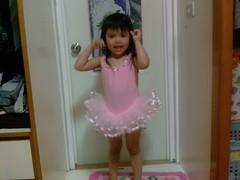 Christina in her ballet dress