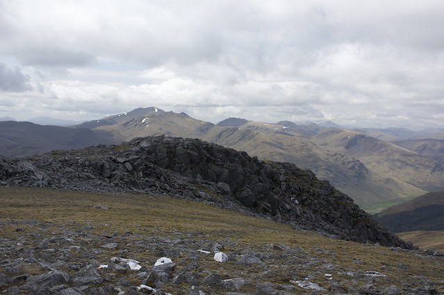 Ben Lawers across Carn Mairg's crags