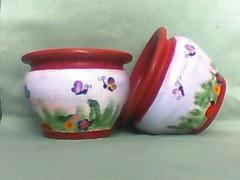 vasos borboletas (A cor do acaso) Tags: amor flor artesanal coração paixão mão presentes vasos pintados decorado