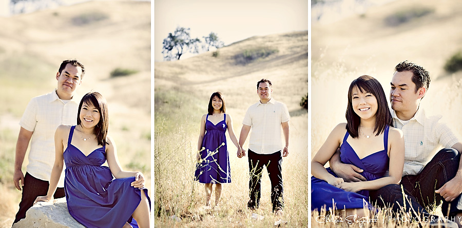 Vintage malibu canyon engagement