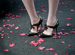 spectator (nardell) Tags: love feet fashion rose petals shoes pumps pavement steps style heels mariah spectator bipedal anneklein petalpusher bypetal oknotfunny