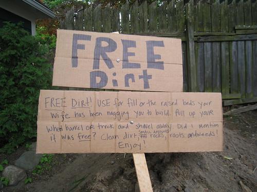 Free Dirt Sign
