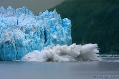 "Hubbard Glacier Calving (IronRodArt - Royce Bair (""Star Shooter"")) Tags: park blue friends cold fall ice water field alaska melting aqua break pacific crash turquoise dramatic conservation environmental snap off glacier cap collapse environment fjord melt iceberg icy splash pressure warming seward kenai global calving alaskan hubbard topple tidewater calve disenchantment oceanbay"