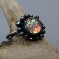 glow2 (duckduckpodworkstuff) Tags: sterlingsilver dichroicglass sunsetcolours duckduckgoosestuff blacksilverm