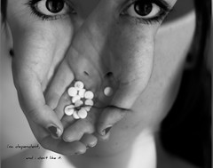 post secret, six.    (#88 in explore) (ashley rose,) Tags: blackandwhite bw face set self lens 50mm post secret explore layer medicine pills edit layering postsecret patchadams gimp2 explored 50mm18f ashleyrose lightroom2 canonrebelxsi ashleyrosex