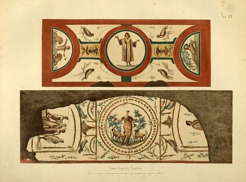 011-Pinturas de un arcosolio-La Roma sotterranea cristiana - © Universitätsbibliothek Heidelberg