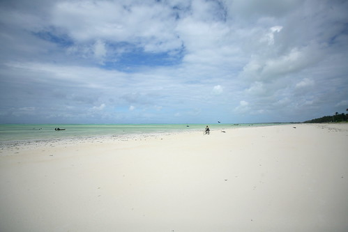 the white sand expanse of Paje