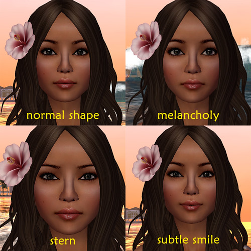 subtle expressions via sliders