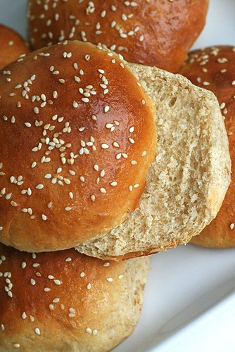 are just plain honey wheat hamburger buns 100 % whole wheat sandwich ...