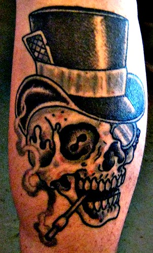 Calf Tattoo by Jason Brooks @ Rock of Ages | 07.11.09