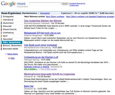 Google News Lokale Nachrichten Olfen