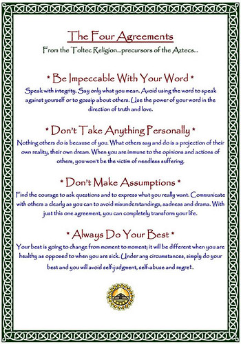 Four Agreements,   An Inspiring Book by Don Miguel Ruiz