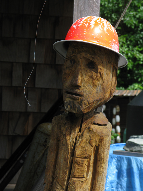 chainsaw sculpture of a logger, Kasaan, Alaska